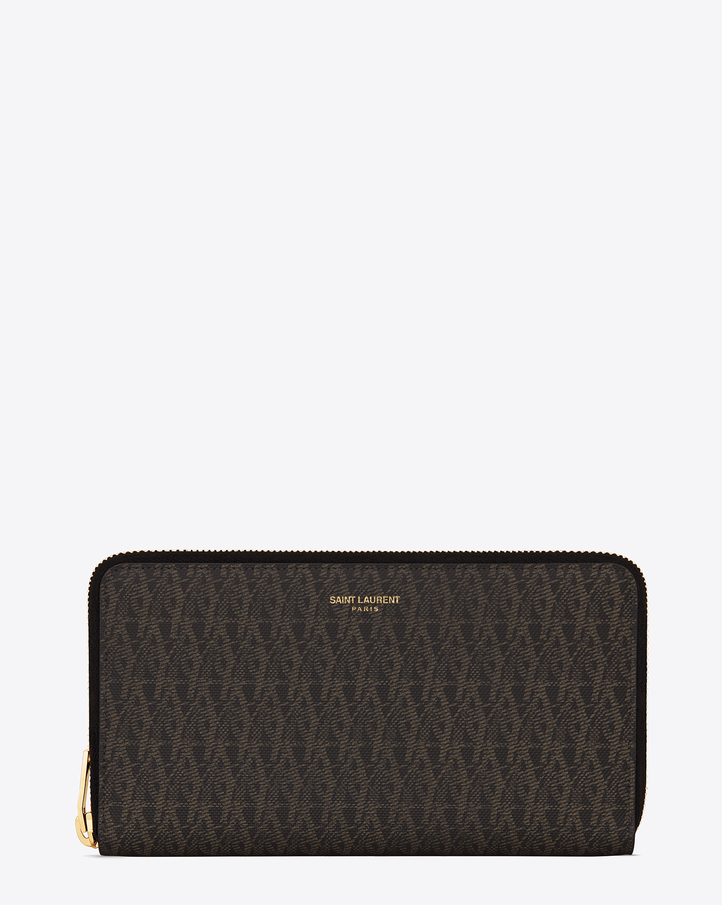 ysl belle du jour clutch replica - Saint Laurent LARGE Toile Monogram CLASSIC ZIP AROUND WALLET IN ...