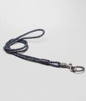 Tourmaline Prusse Intrecciato Ayers Livrea Key Ring