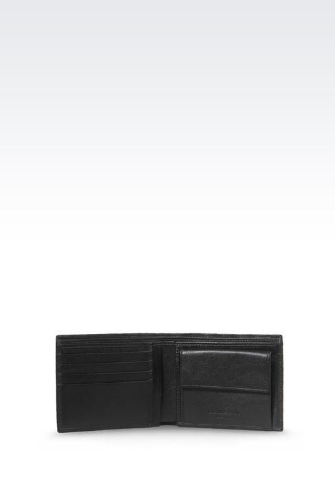 BI-FOLD WALLET IN CALFSKIN LEATHER: Wallets Men by Armani - 3