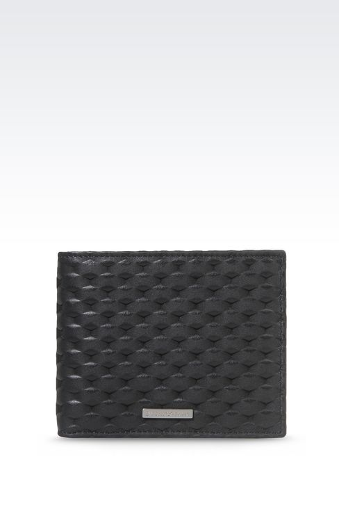 BI-FOLD WALLET IN CALFSKIN LEATHER: Wallets Men by Armani - 1