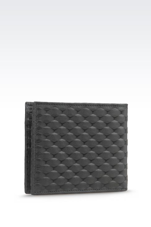BI-FOLD WALLET IN CALFSKIN LEATHER: Wallets Men by Armani - 2