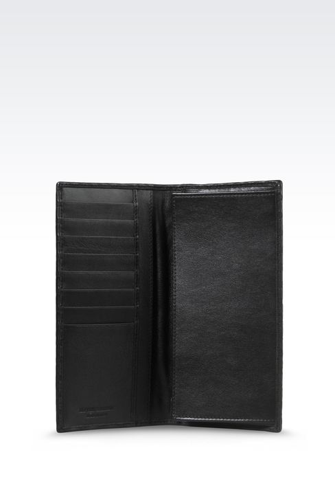WALLET IN CALFSKIN LEATHER: Wallets Men by Armani - 3