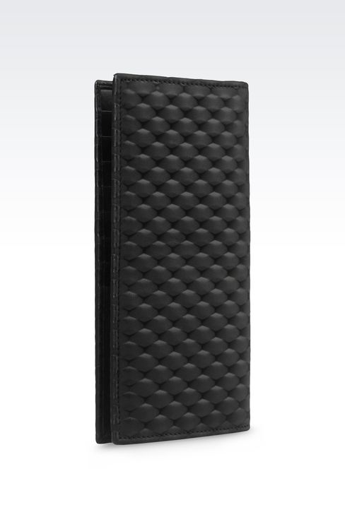 WALLET IN CALFSKIN LEATHER: Wallets Men by Armani - 2