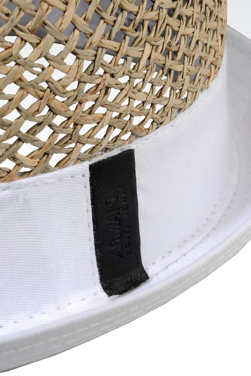 NARROW-BRIMMED STRAW HAT: Hats Men by Armani - 3