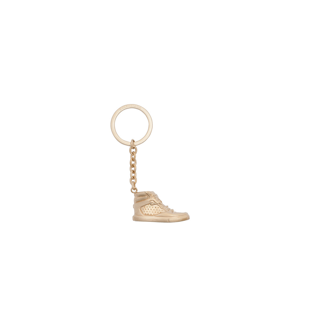 Balenciaga Portachiavi Sneaker Oro Chiaro con Moschettone