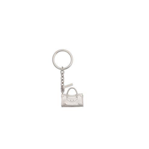 Balenciaga Klassischer Schlüsselring in Silber