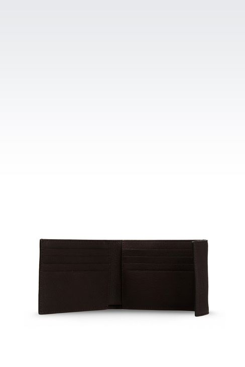WALLET IN GRAINED CALFSKIN: Wallets Men by Armani - 3