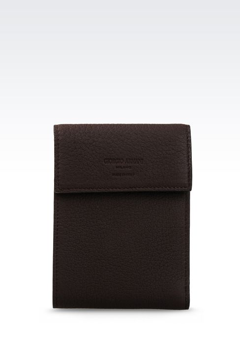 WALLET IN GRAINED CALFSKIN: Wallets Men by Armani - 1