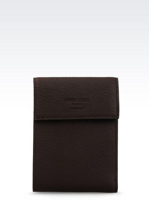 WALLET IN GRAINED CALFSKIN: Wallets Men by Armani - 1