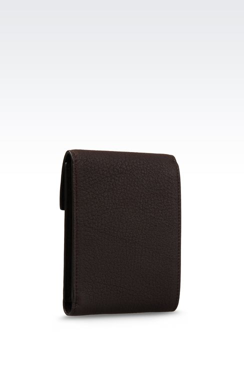 WALLET IN GRAINED CALFSKIN: Wallets Men by Armani - 2