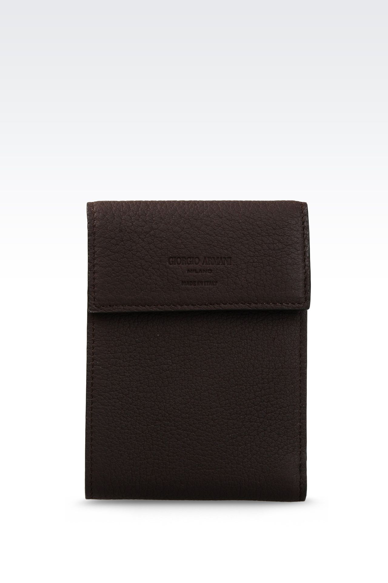 WALLET IN GRAINED CALFSKIN: Wallets Men by Armani - 0