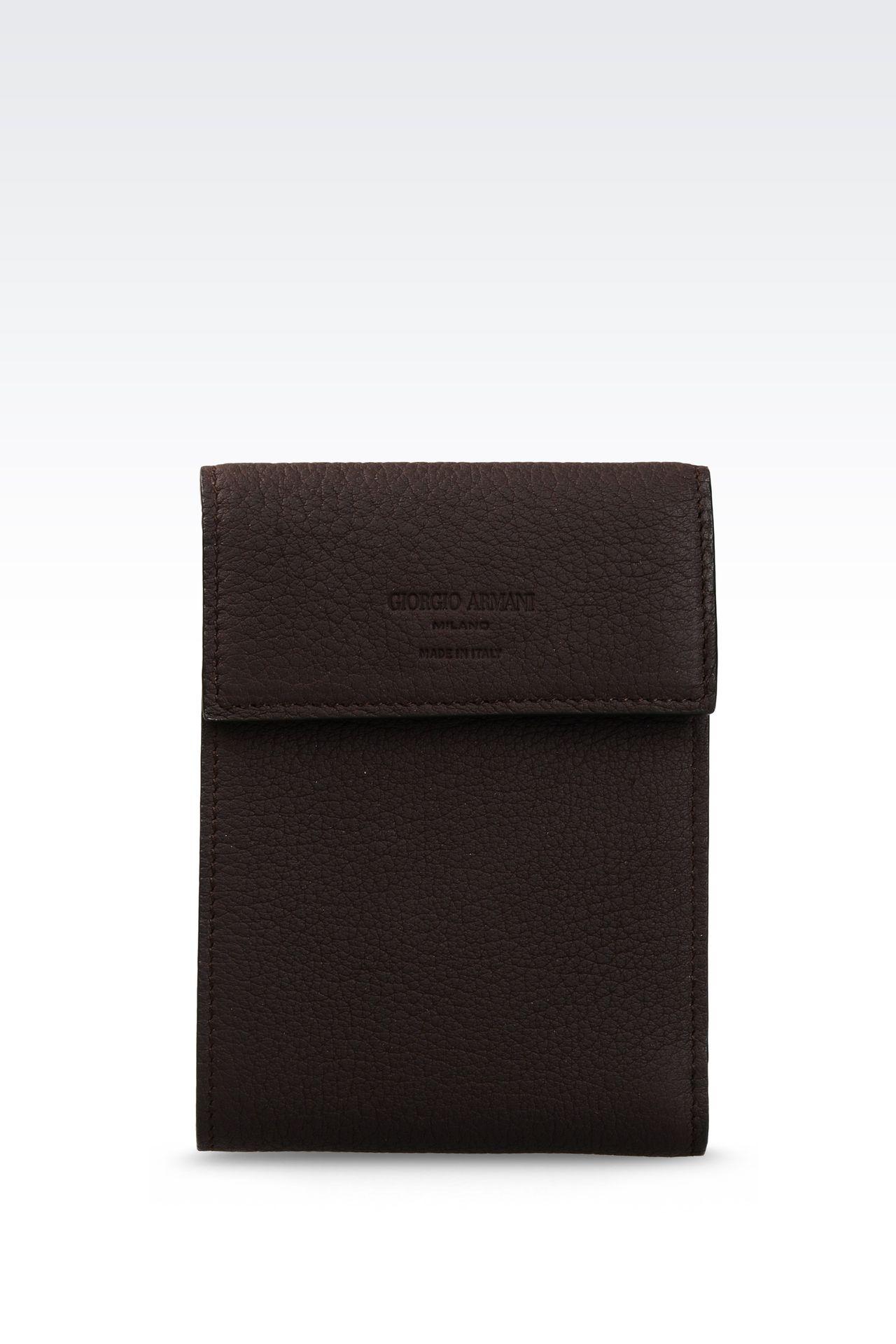 WALLET IN GRAINED CALFSKIN: Wallets Men by Armani - 0