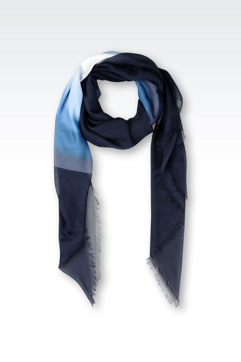 MODAL AND SILK OVERSIZED SCARF: Foulards Men by Armani - 1