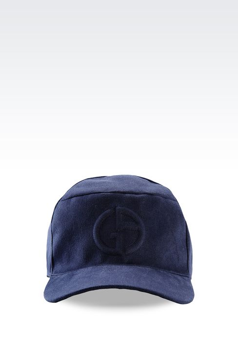 COTTON BASEBALL CAP WITH LOGO: Hats with visor Men by Armani - 1