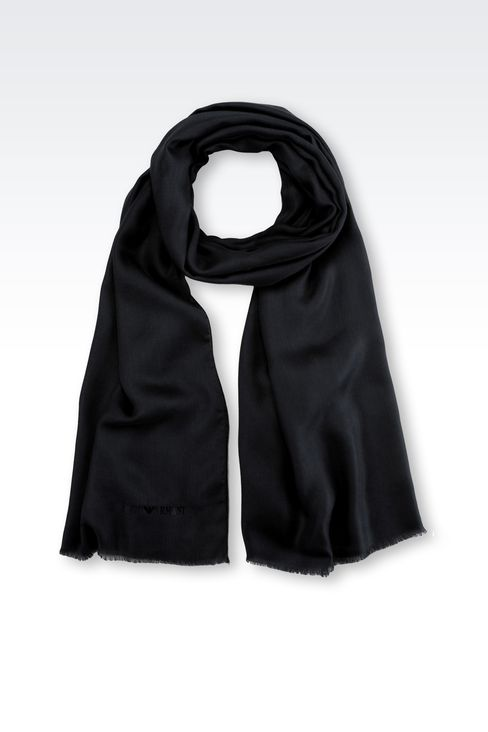 MODAL AND CASHMERE STOLE: Stoles Men by Armani - 1