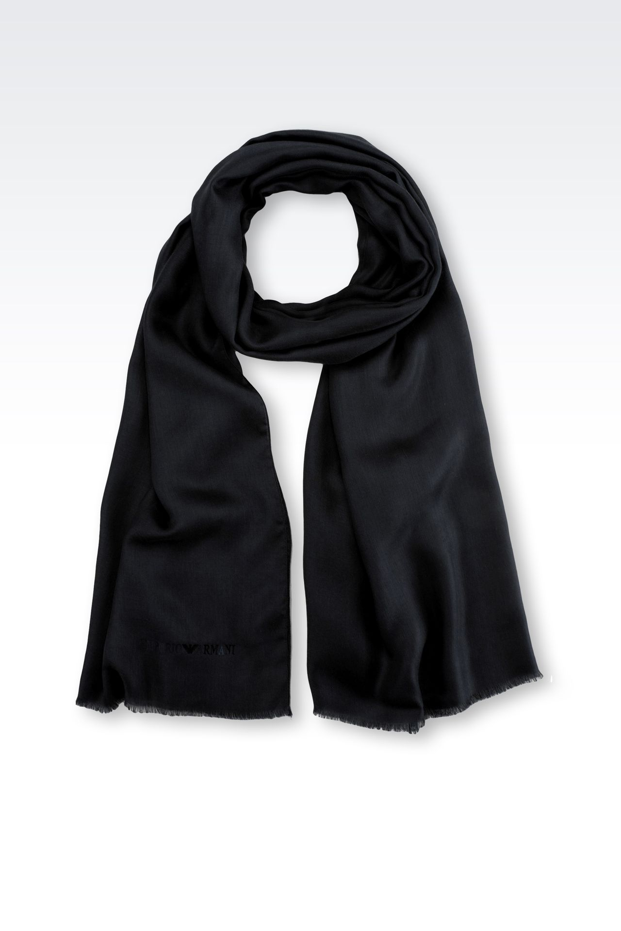 MODAL AND CASHMERE STOLE: Stoles Men by Armani - 0