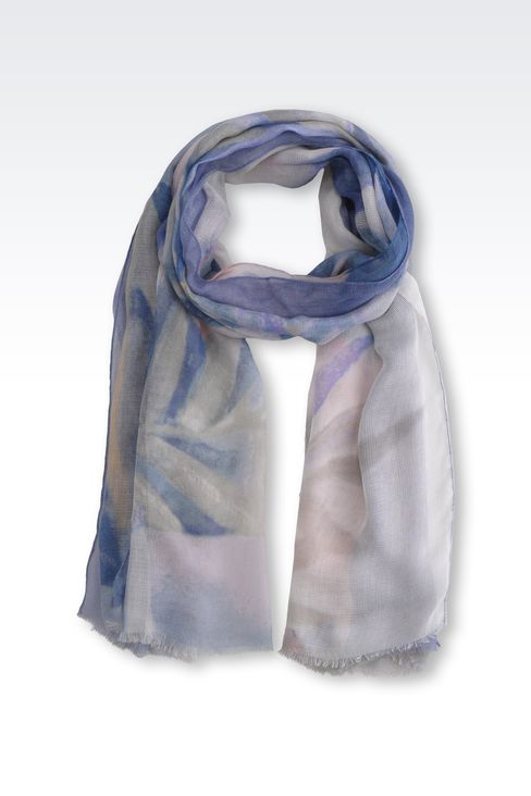 MODAL AND SILK STOLE: Stoles Women by Armani - 1