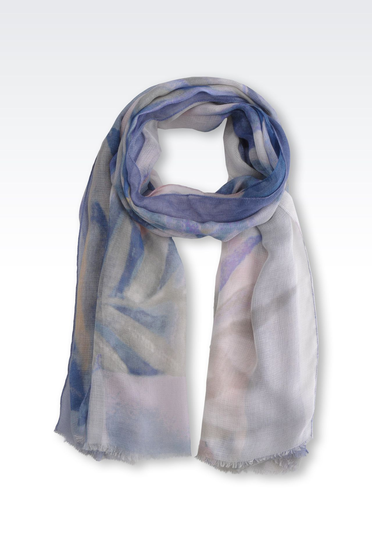 MODAL AND SILK STOLE: Stoles Women by Armani - 0