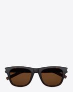 Classic 2 Sunglasses in Dark Havana Acetate with Brown Lenses