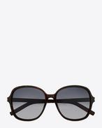 Classic 8 Sunglasses in Dark Havana Acetate with Grey Gradient Lenses