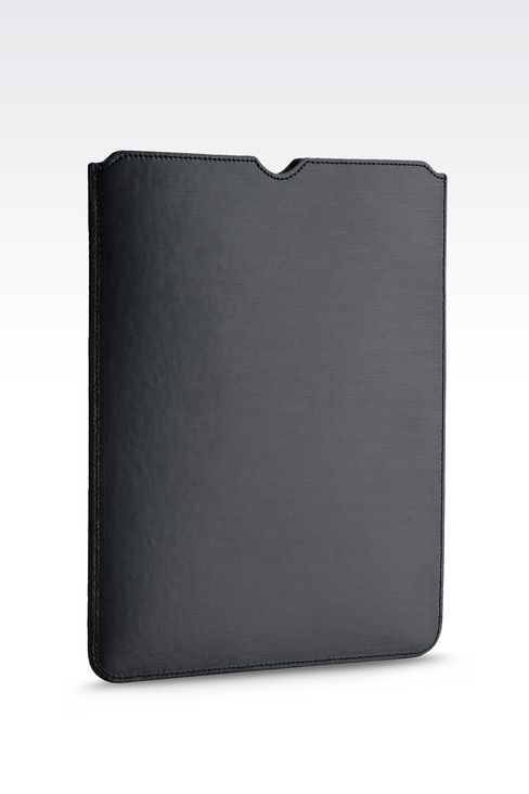 PRINTED CALFSKIN TABLET CASE: iPad holders Men by Armani - 2