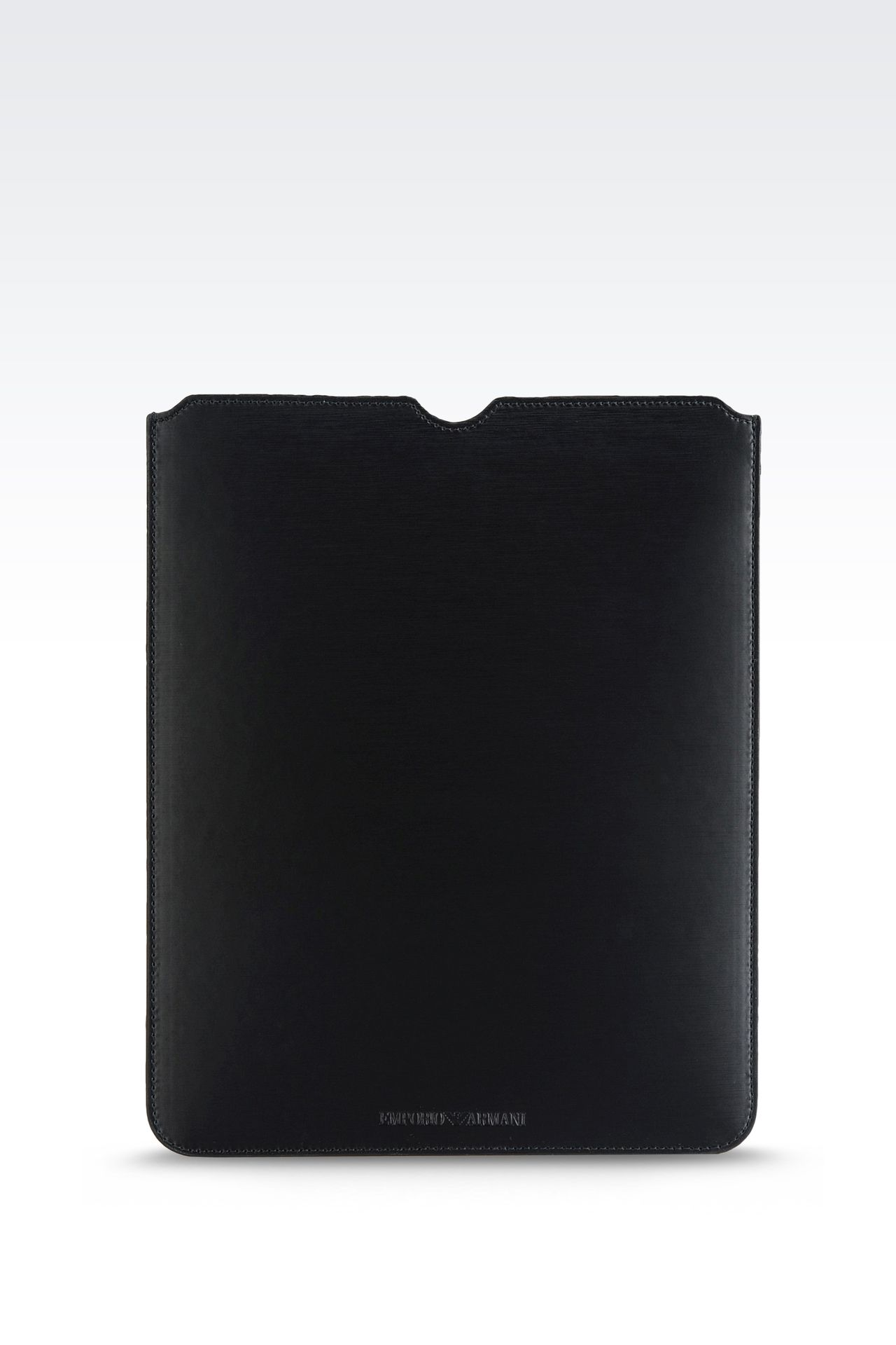 PRINTED CALFSKIN TABLET CASE: iPad holders Men by Armani - 0