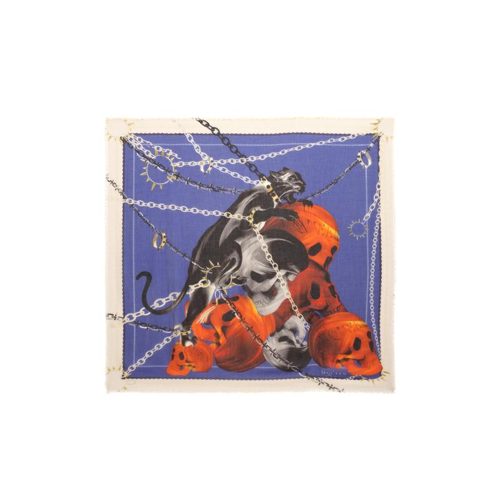 Alexander McQueen, Panther Skull Print Scarf
