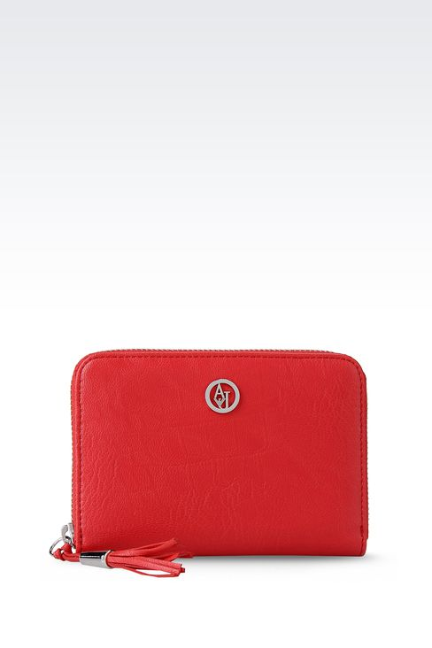 ZIP-AROUND WALLET IN FAUX LEATHER: Wallets Women by Armani - 1