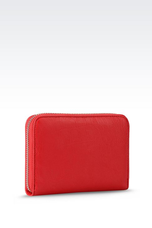 ZIP-AROUND WALLET IN FAUX LEATHER: Wallets Women by Armani - 2