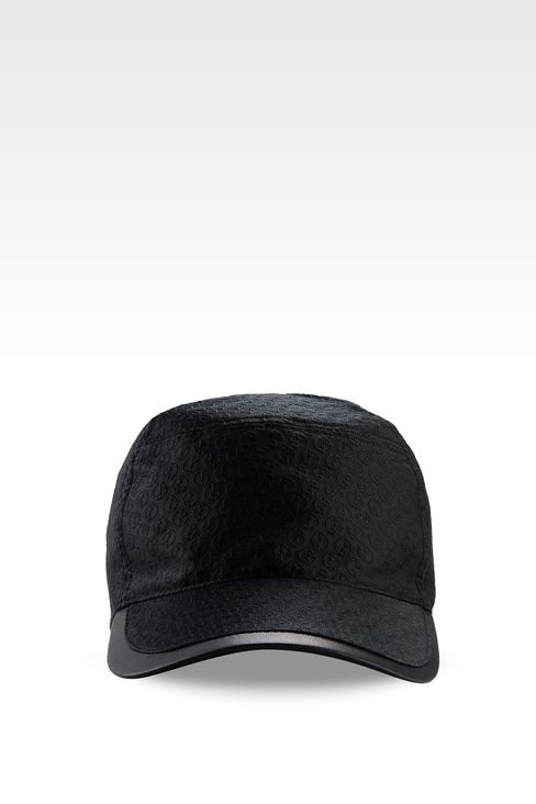 BASEBALL CAP WITH LOGO DESIGN: Hats with visor Men by Armani - 1