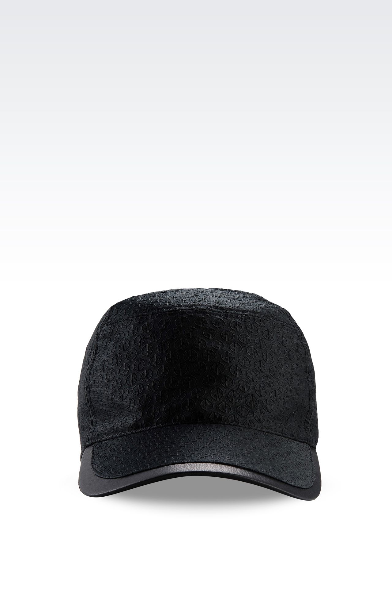BASEBALL CAP WITH LOGO DESIGN: Hats with visor Men by Armani - 0