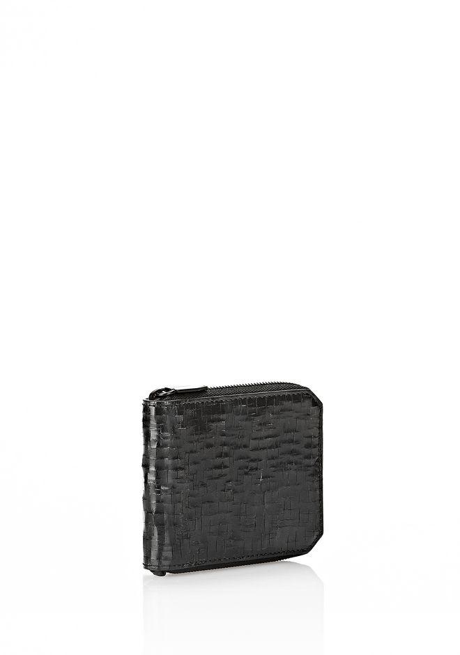 ZIPPED BI-FOLD WALLET IN WITH MATTE BLACK