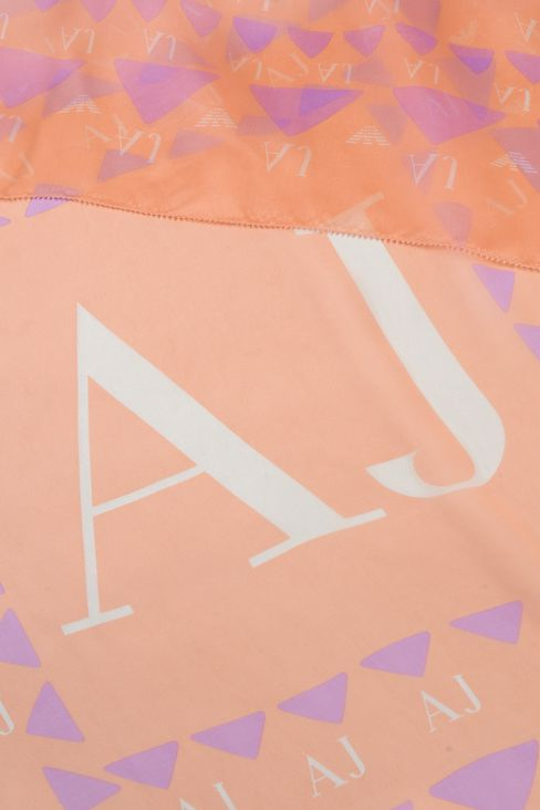 SILK SCARF WITH GEOMETRIC PATTERN: Foulards Women by Armani - 3