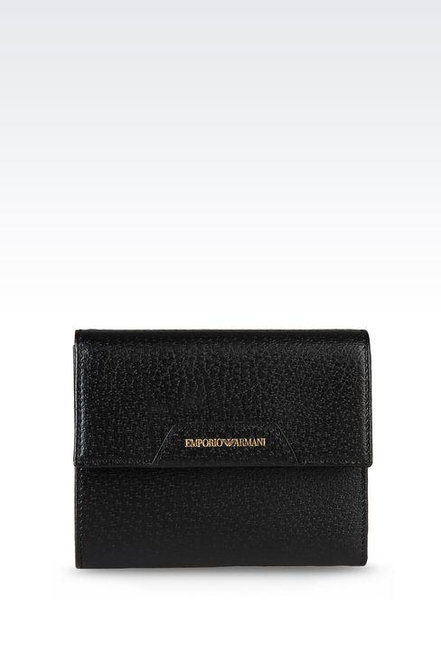 WALLET IN PECCARY PRINT CALFSKIN: Wallets Women by Armani - 1