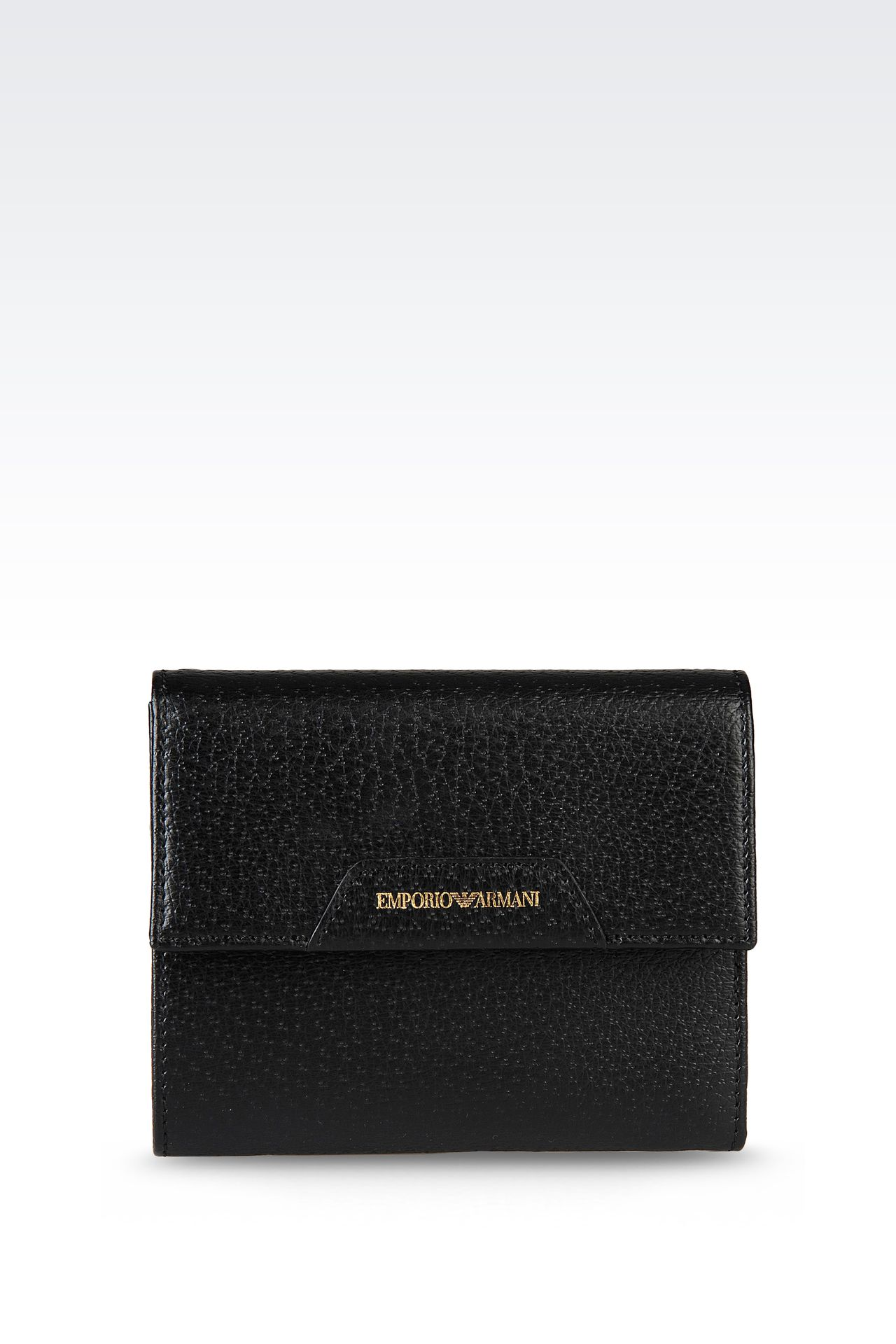 WALLET IN PECCARY PRINT CALFSKIN: Wallets Women by Armani - 0