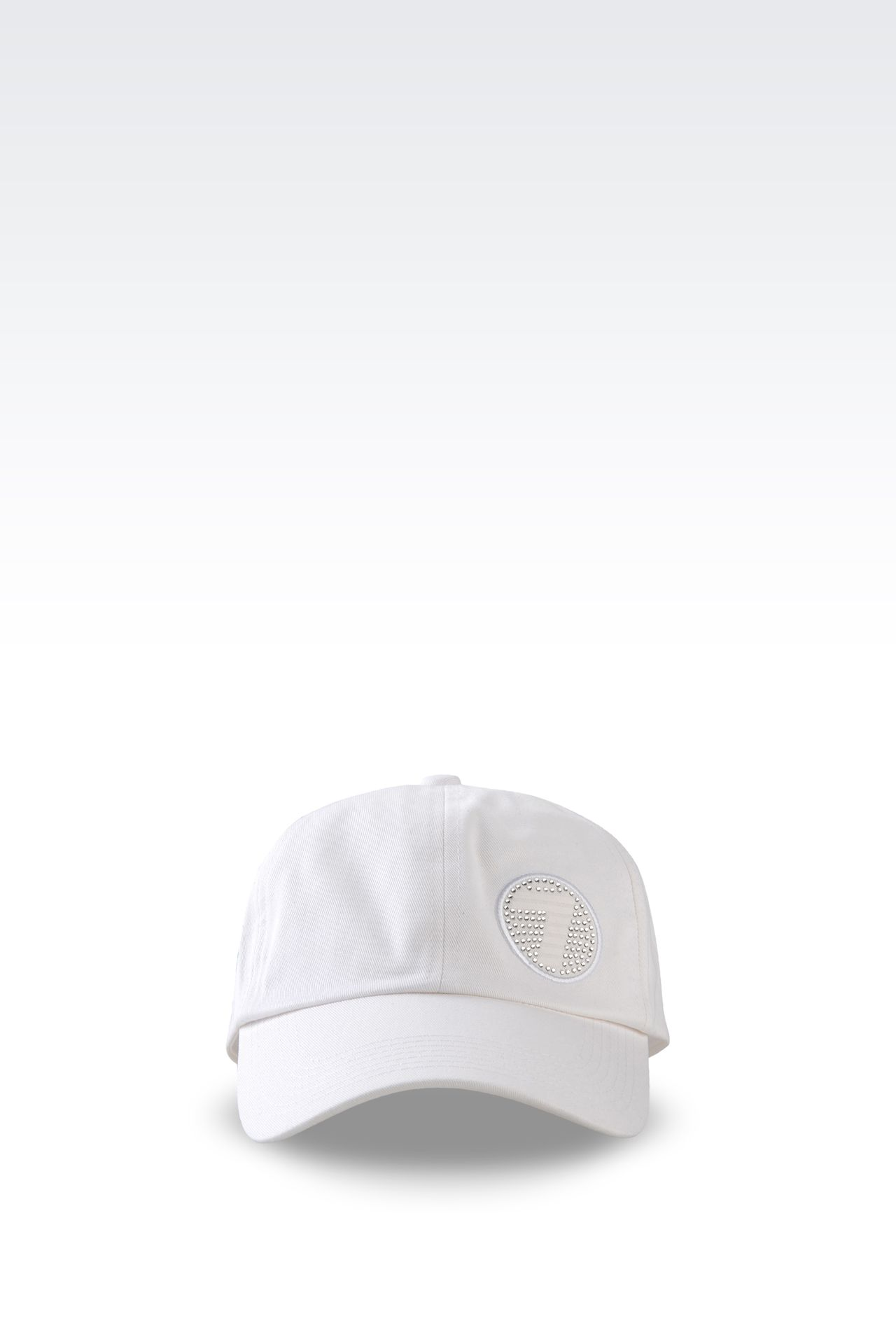 COTTON BASEBALL CAP WITH LOGO: Hats Women by Armani - 0