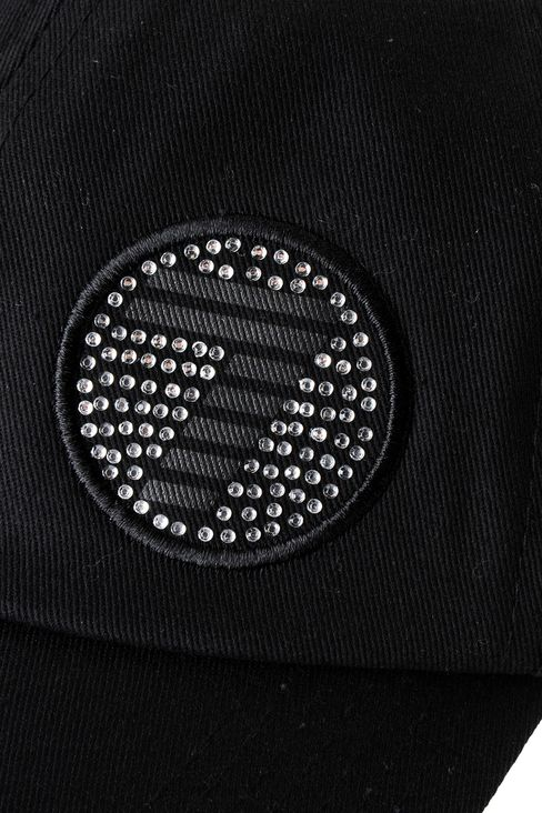COTTON BASEBALL CAP WITH LOGO: Hats Women by Armani - 3