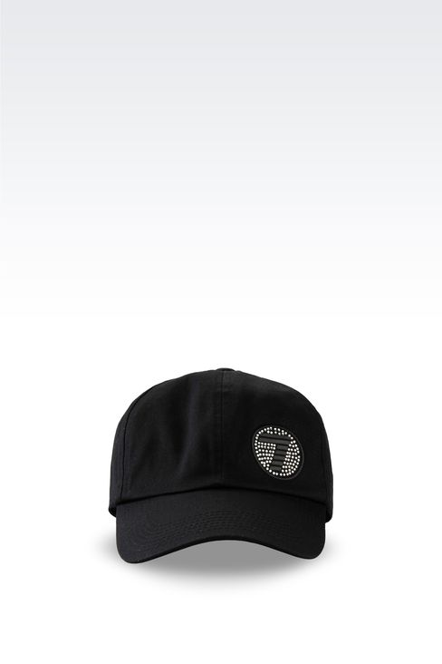 COTTON BASEBALL CAP WITH LOGO: Hats Women by Armani - 1