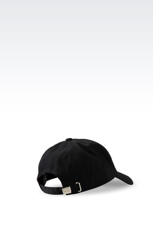 COTTON BASEBALL CAP WITH LOGO: Hats Women by Armani - 2