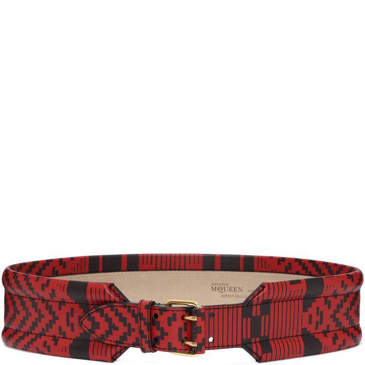 Alexander McQueen, Patchwork Padded Belt