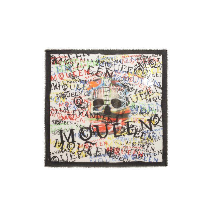 Alexander McQueen, Foulard imprimé graffiti Skull