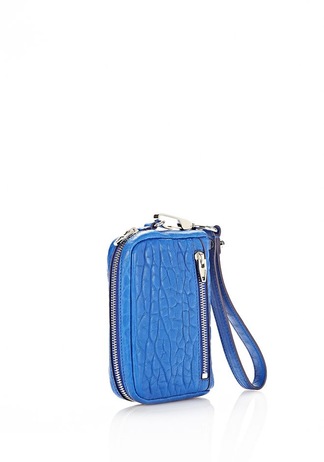 ALEXANDER WANG LARGE FUMO WALLET IN ROYAL WITH RHODIUM SMALL LEATHER GOOD Adult 12_n_d
