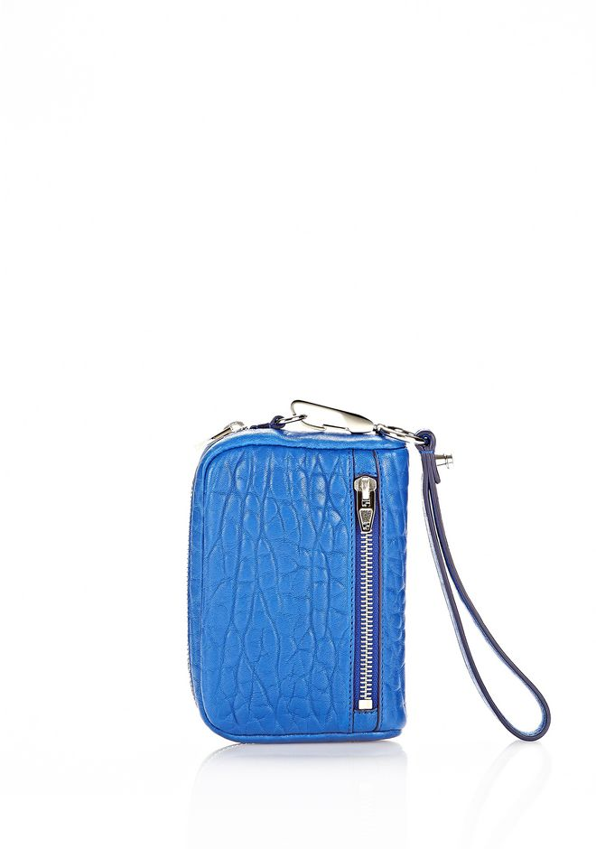 ALEXANDER WANG LARGE FUMO WALLET IN ROYAL WITH RHODIUM SMALL LEATHER GOOD Adult 12_n_e