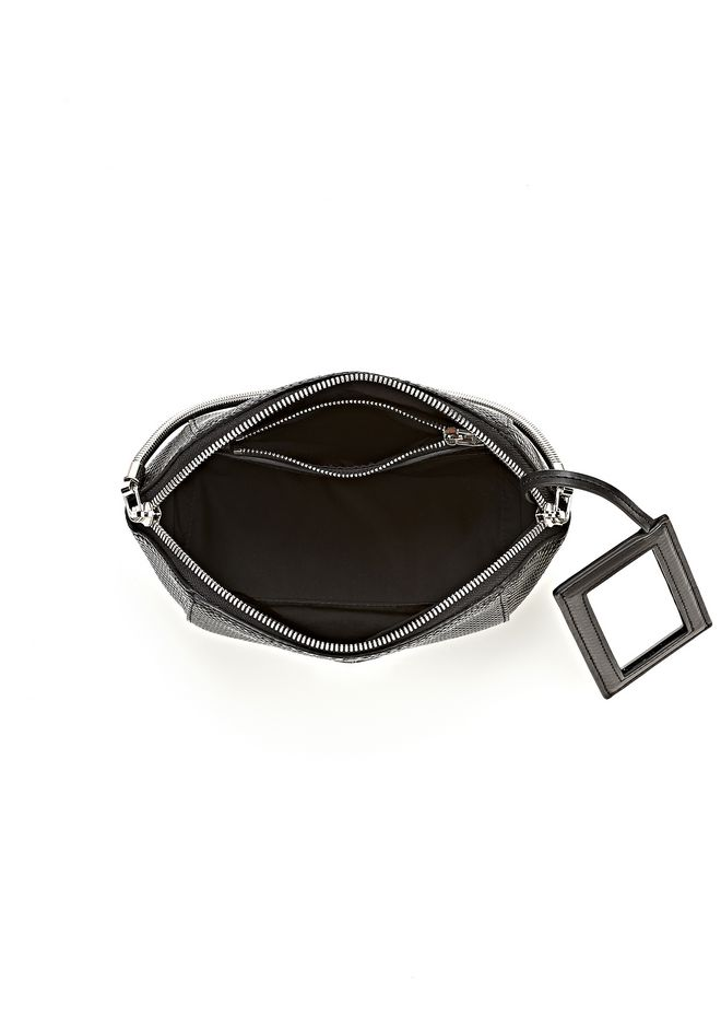 ALEXANDER WANG SMALL CHASTITY MAKE UP POUCH IN BLACK SMALL LEATHER GOOD Adult 12_n_a