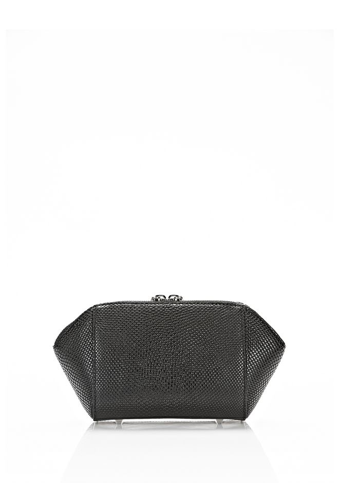 ALEXANDER WANG SMALL CHASTITY MAKE UP POUCH IN BLACK SMALL LEATHER GOOD Adult 12_n_d