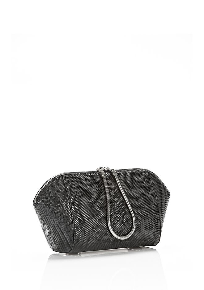 ALEXANDER WANG LARGE CHASTITY MAKE UP POUCH IN BLACK SMALL LEATHER GOOD Adult 12_n_e