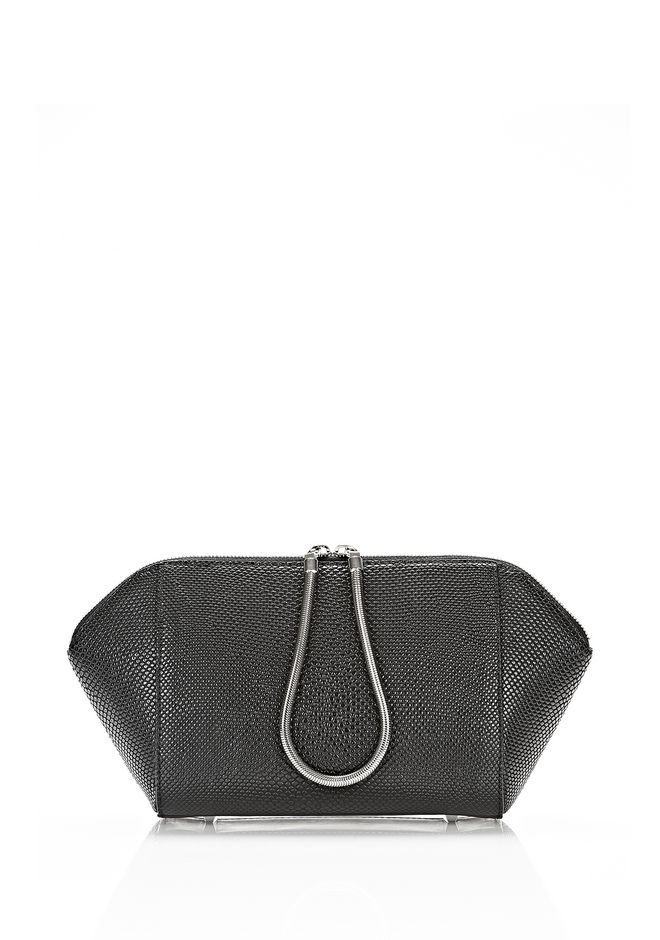 ALEXANDER WANG LARGE CHASTITY MAKE UP POUCH IN BLACK