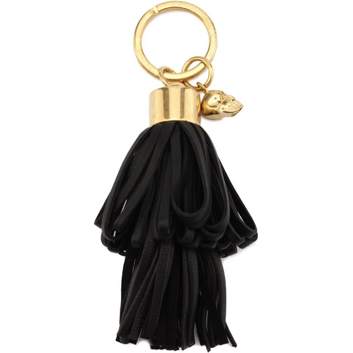 Alexander McQueen, Leather Tassel Skull Key Ring