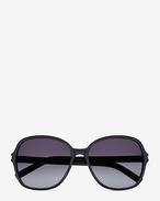 Classic 8 Sunglasses in Black Acetate with Grey Gradient Lenses