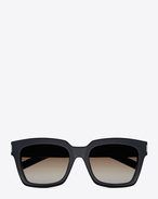 Bold 1 Sunglasses in Black Acetate with Brown Gradient Lenses